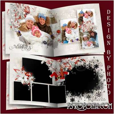 Family photo book template psd free - Beautiful winter