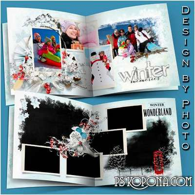Photobook template psd free 7 PSD -  Winter tale is knocking on our door