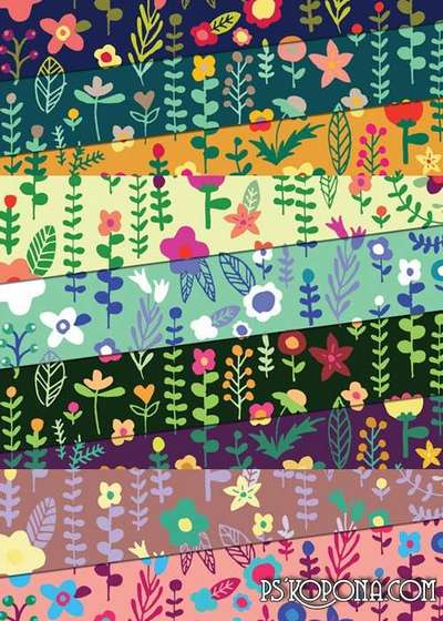 Floral Doodles Patterns