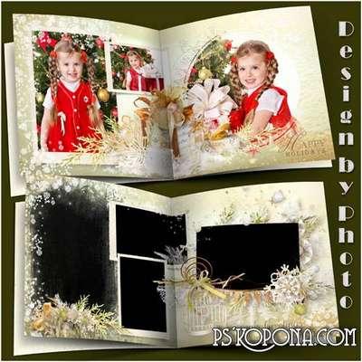 Photobook template psd - Christmas story