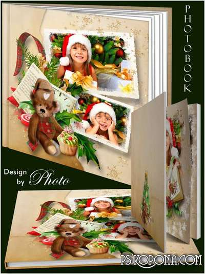 Photobook template psd - Is Clean, peaceful sky, we will give a New year