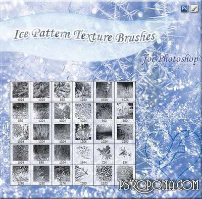 Brushes - Frosty patterns