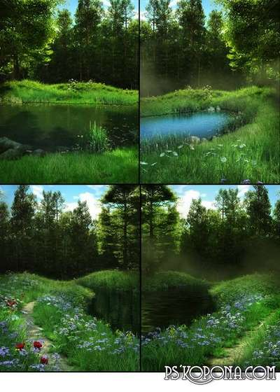 Beautiful spring backgrounds fantasy