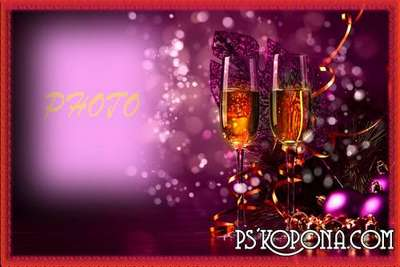 New Years PSD Photo frame for Photoshop - New Years Eve for two
