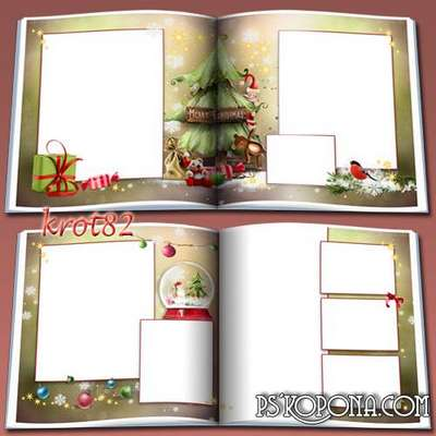 New photobook template psd - With songs merry celebrated New Year