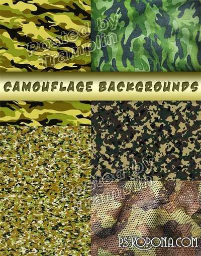 Backgrounds a camouflage � Military clipart