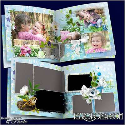 Spring photobook template psd - In the court of the rings drops