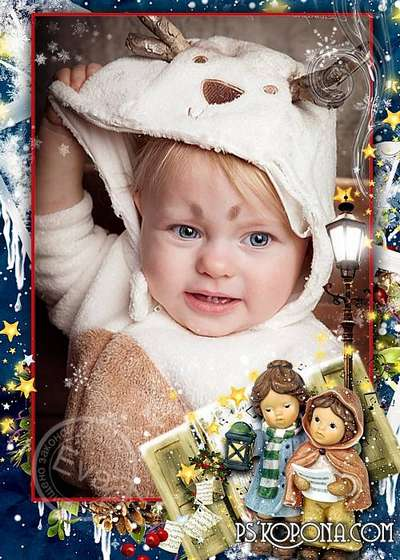 Child`s photo frame - Christmas song