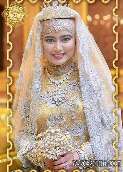 Wedding Template for Photoshop - Eastern outfit the bride