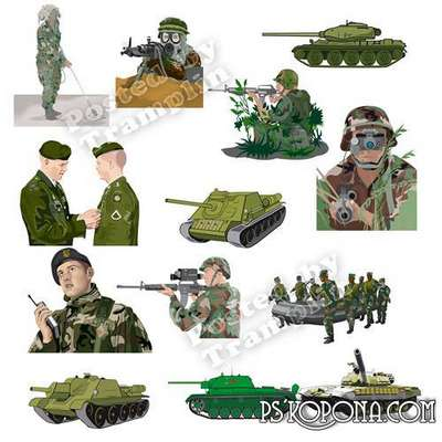 February 23 - Defender of the Fatherland Day - Clipart