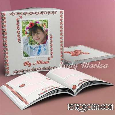 Free Photobook template psd - Ethnic ornaments