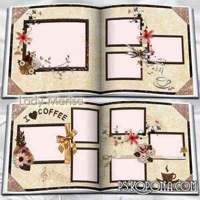 Photobook template psd - Coffee Symphony