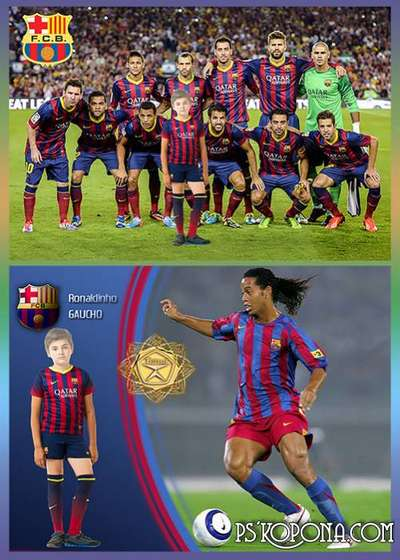 Children's template - FC Barcelona