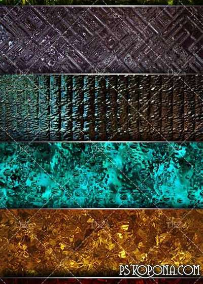Ornate fluted glass textures