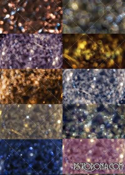 Shiny sparkling bokeh textures
