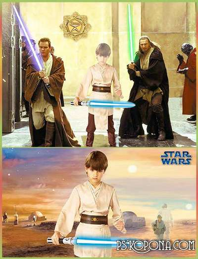 Children's template for photoshop - Jedi