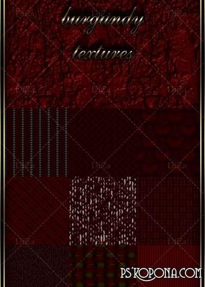Volumetric burgundy textures