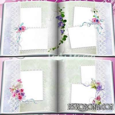 Floral photobook template psd - Beautiful flowers