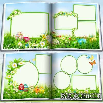 Photobook template psd – Happy Easter