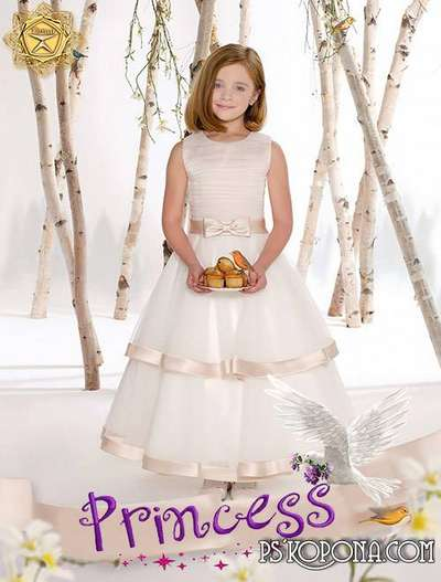 Children's template for photoshop - Welcome Princess