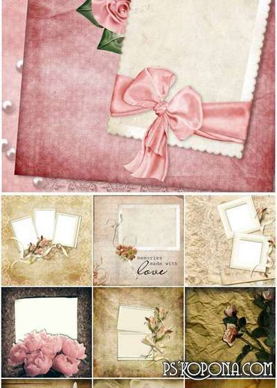 Fine vintage background with flowers