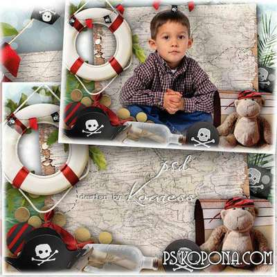 Photo frame - Little pirate