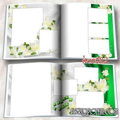 Wedding Day - Photobook template psd for wedding photos