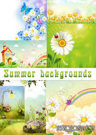 Children summer backgrounds