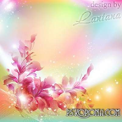 Multilayer psd backgrounds for Photoshop - many flowers