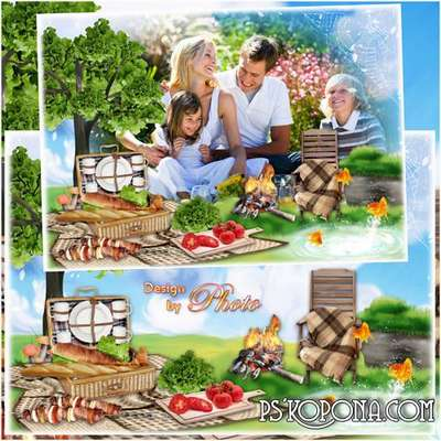Frame for photo - Summer picnic