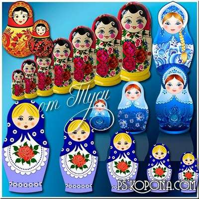 Matryoshka - Russian souvenir - Graphic