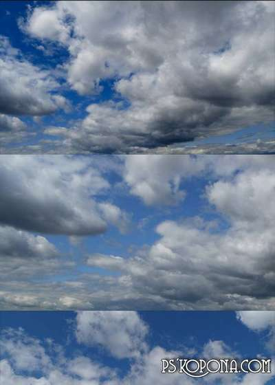 Photo textures of the cloudy sky