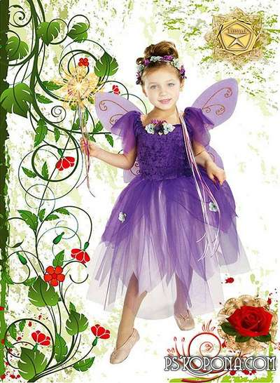 Children's template for photoshop - Little Princess Fairy