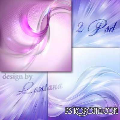 2 Layered PSD backgrounds for design in photo editor Adobe Photoshop