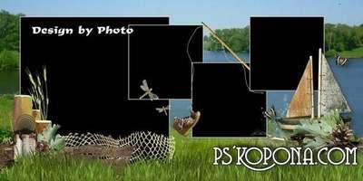 Men's photobook template psd - The fishing season