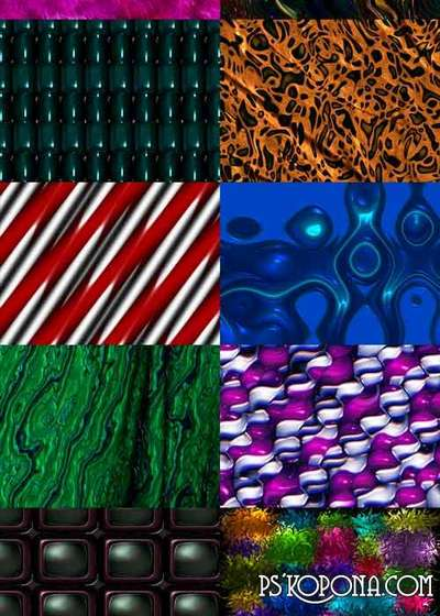 Various abstract JPEG textures