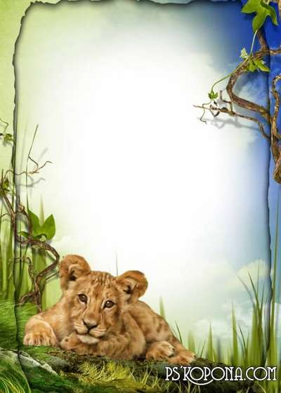 Child`s photo frame free download – My little tiger