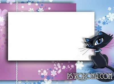 Child`s photo frame free download – Kitty