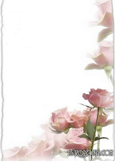 Photo frame - Tenderness petals