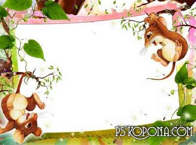 Child`s photo frame – Baby Mouse