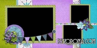 Baby universal photobook template psd - Kids