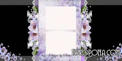 Photobook template psd for a future mother - In anticipation of the baby
