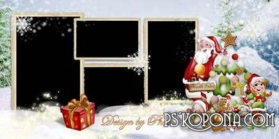 Photo book template psd - it snows on Christmas