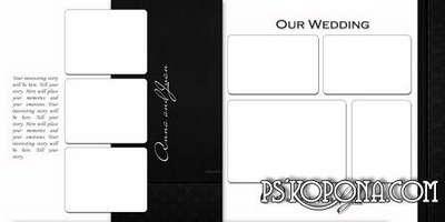 Elegant classic photo book template-Black and white