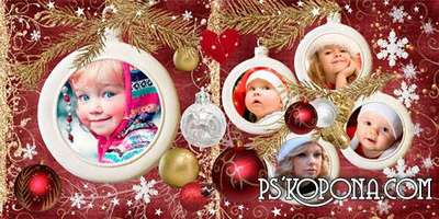 Holiday photo book template psd - Favorite Christmas decorations