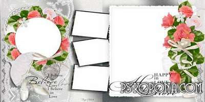 Wedding photo book template-Happy in love!