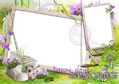 Child`s PSD photo frame - Your lucky day