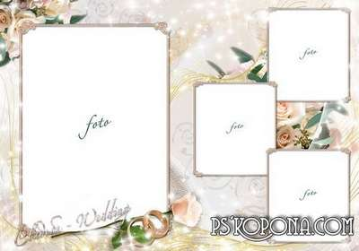 A set of wedding templates psd - Magic moment of the wedding