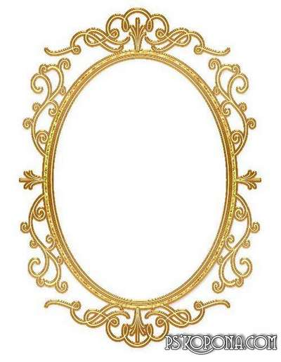 Gold and silver oval frames cuts 8 PNG