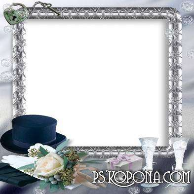 Collection of beautiful frames for photos - Wedding cycling